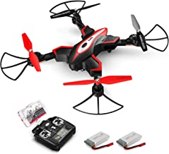 Foldable Drone, SYMA X56W RC Quadcopter with Camera, 2.4GHz 6-Axis Gyro, Wifi FPV Live Video, Altitude Hold, Headless Mode, One Key Start, Easy to fly for Beginners, Kids, Black (2 Batteries)