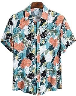 Camisa Hawaiana de Manga Corta para Hombres de Playa de Calidad Camisa Casual de Verano Camisa de Hombre Blusa de Surf Sue...