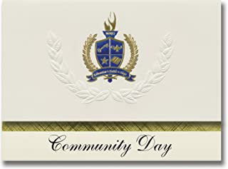 Signature Announcements Community Day (Benicia, CA) Graduation Announcements, Presidential style, Elite package of 25 with...