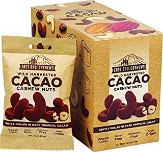 East Bali Cashews Cacao Cashew Nuts, 1 box of 10 packets