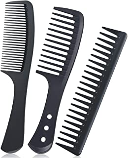 URAQT Brede tandkam, 3 stuks professionele kapperskam, kapperskam, kapperskam, haarstyling, salon, krullenkam, hittebesten...
