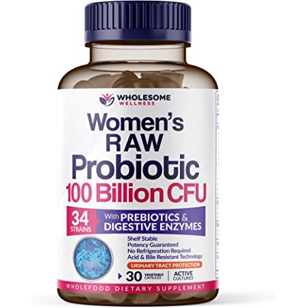 Dr. Formulated Raw Probiotics for Women 100 Billion CFUs with Prebiotics, Digestive Enzymes, & UT Support, Approved Women's Probiotic for Adults, Shelf Stable Probiotic Supplement, 30 Capsules