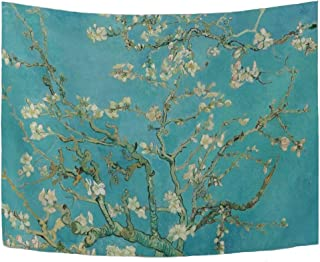 WIHVE Large Tapestry Van Gogh Branches of an Almond Tree in Blossom Tapestry Wall Hanging Art Home Decor for Living Room Bedroom Bathroom Kitchen Dorm 90 x 60 Inches