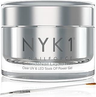 NYK1 NailForce Gel Uñas Constructor - Esmaltes Permanentes Para Uñas UV Y LED/Endurecedor Uñas Para Pintauñas Permanente Y...
