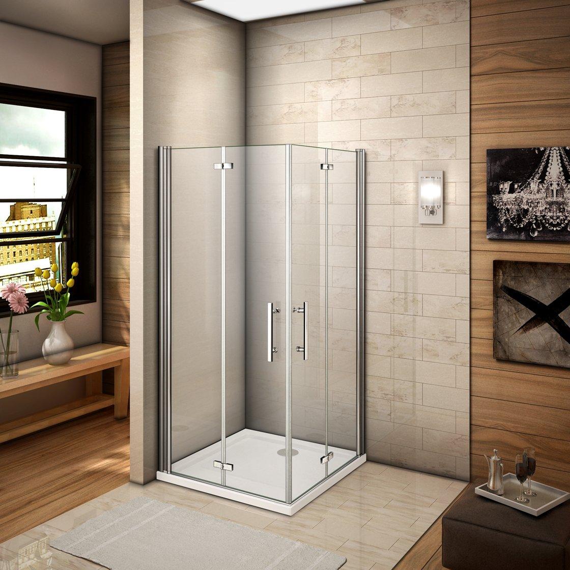 76 x 70 x 185 cm Mampara de ducha esquina. drehfalt Puerta ducha puerta de ducha (HP76 – 2 + HP70 – 2): Amazon.es: Bricolaje y herramientas