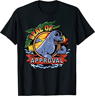 Seal Of Approval Funny Animal Pun Sea Lion T-Shirt