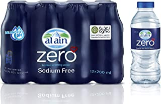 Al Ain Zero, Bottled Drinking Water - 200ml (Pack of 12)