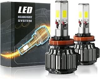 120W 12000LM LED Headlight High/Low Beam Fog DRL Conversion Kit Light Bulbs 6000K White 3 Year Warranty (H11)