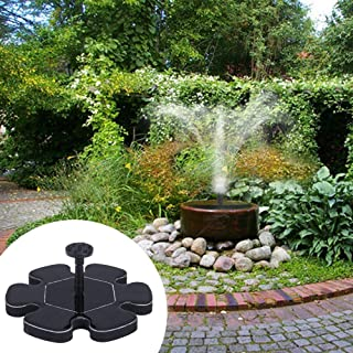 H-ONG Solar Fountain Pump Garden Micro Floating Solar Water Pumps Outdoor 1.5W Solar Powered Water Pump for Fish Tank, Pond, Pool,Bird Bath