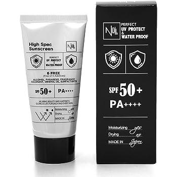 NULL 日焼け止め メンズ ウォータープルーフ (顔 & 全身 用) SPF50+ PA++++ ロングUVA対応 40g (特殊製法で 汗/水 にめっぽう強い) (白くならない/クレンジング不要) スポーツ ゴルフ 用