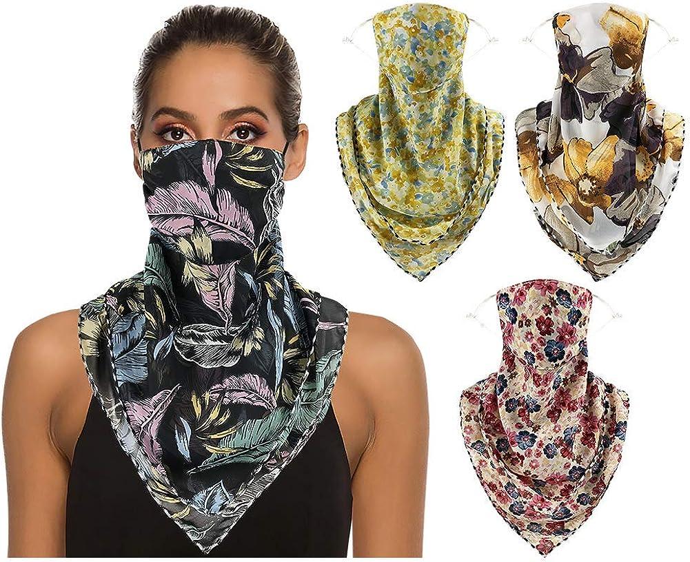 4 o 6 mascarillas de gasa ajustables para mujer, cubrebocas, cubrebocas reutilizables para el cuello, pasamontañas