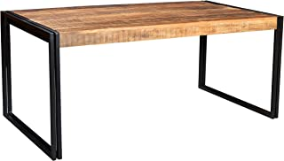 Timbergirl AA1310xs Hand-Crafted Reclaimed Wood and Metal Dining Table, 60-Inch