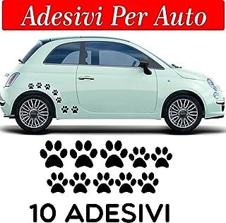10 huellas adhesivas, pegatinas para coche, moto y cascos. 3 adhesivos de 5 x 5 cm, 7 pegatinas de 3 x 3 cm, para coche