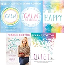 Fearne Cotton 5 Book Set Collection -Calm,Happy,Calm The Journal, Quiet(HardBack), Cook Happy Cook Healthy (