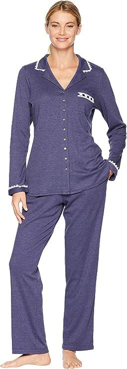 Interlock Notch Collar Pajama Set