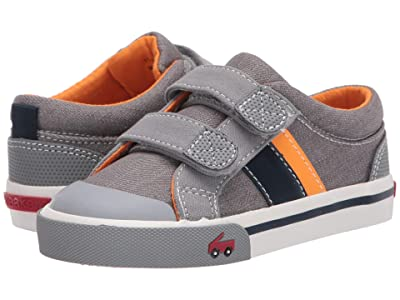 See Kai Run Kids Russell (Toddler/Little Kid) (Gray/Orange) Boys Shoes