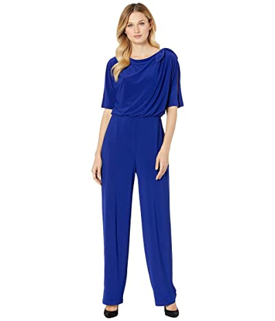 Vince Camuto Ity Jumpsuit w/ Bow at Shoulder (Cobalt) Women