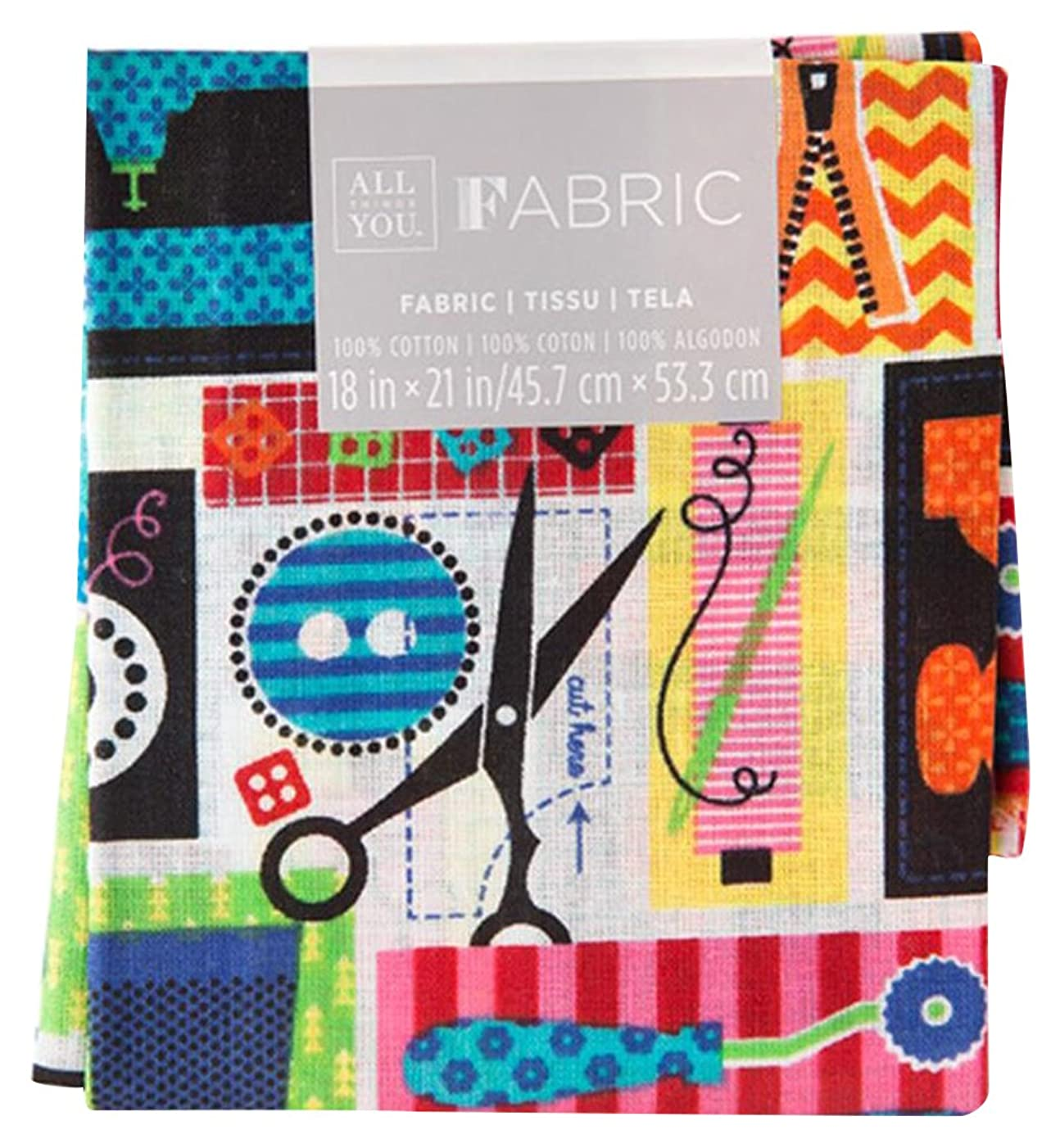 Darice 30029780 Patterned Quilting Fat Quarters: Sewing Theme