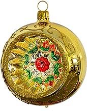 078 avec boule reflex 8 cm Th/üringer weihnacht 52 rouge reflex-multicolore-lot de 2