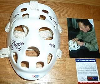 PSA/DNA Tony Esposito 3 Inscriptions Autographed Signed Memorabilia -Autographed Signed Memorabilia Replica Goalie Mask 6209