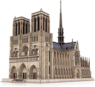 CubicFun 3D Brain Teaser Puzzles Large Challenge French Cathedral Architecture Building Model Craft Kits Toys Gifts for Adults as Hobbies, Notre Dame de Paris