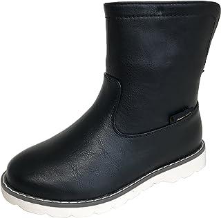 [アマート] ジュニア 折り返し 2way ハーフ ブーツ 長靴 雨靴 防水 通学 親子 ファミリー ガールズ ボーイズ 3色 AMT-3201