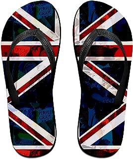British Punk Flag Men Women Sandals Cute Summer Beach Slippers Flip Flops Thong Sandal