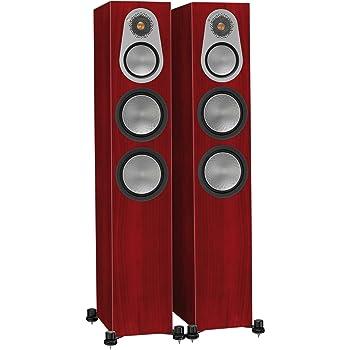 Monitor Audio Silver 300 Floorstanding Speaker Rosenut Pair