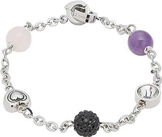 JEWELS BY LEONARDO DARLIN'S damesarmband Senso 2, roestvrij staal met 5 verschillende parels en glazen stenen, CLIP & MIX-...