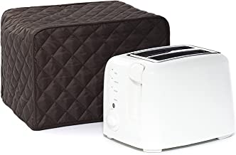 Toaster Dust Cover,Liangxiang Kitchen Toaster Cover Appliance 2 Slice 11W x 8D x 8H (Coffee)