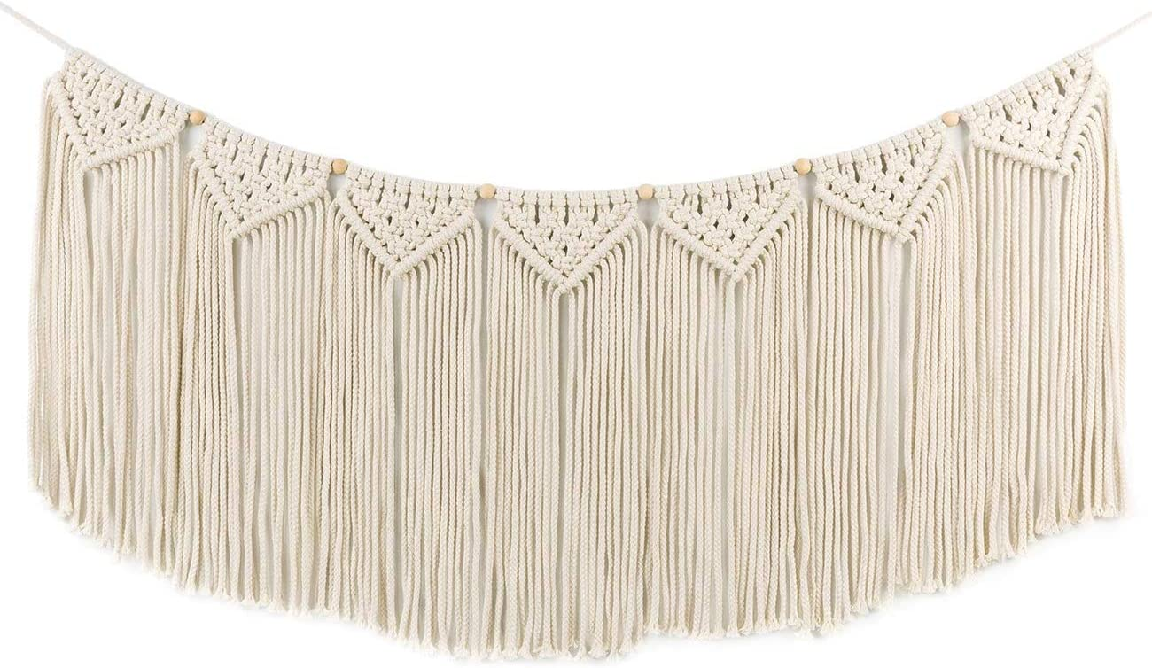 TIMEYARD Macrame Wall Hanging Valance Tapestry Curtain Max At the price of surprise 46% OFF