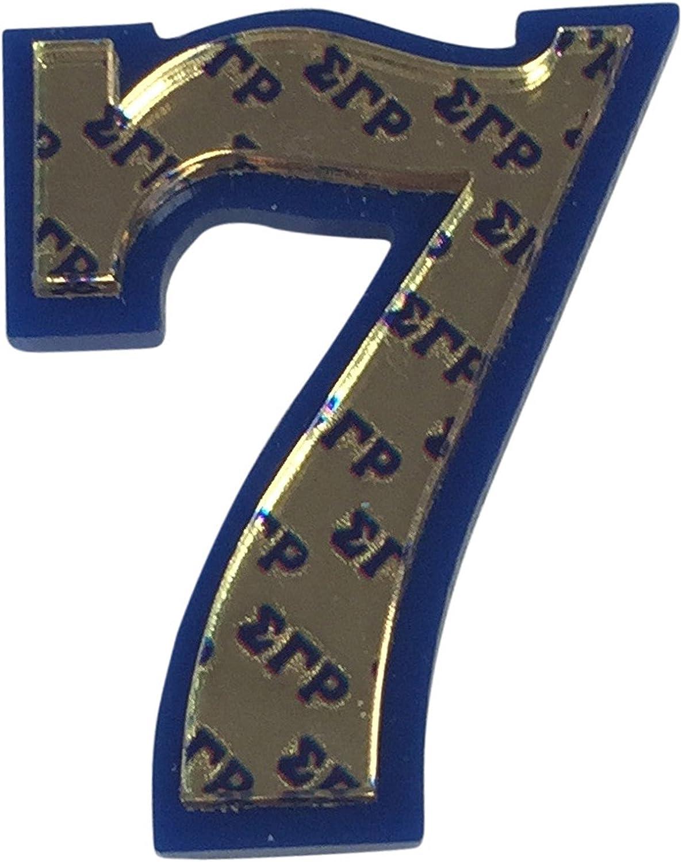 Sigma Gamma Rho Acrylic Line Number Indefinitely Very popular Decorative #7 # Pin