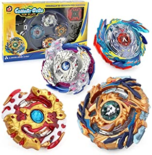 4 in 1 Gyro Battling Top Fusion Metal Master Rapidity Fight with 4D Launcher Grip Set