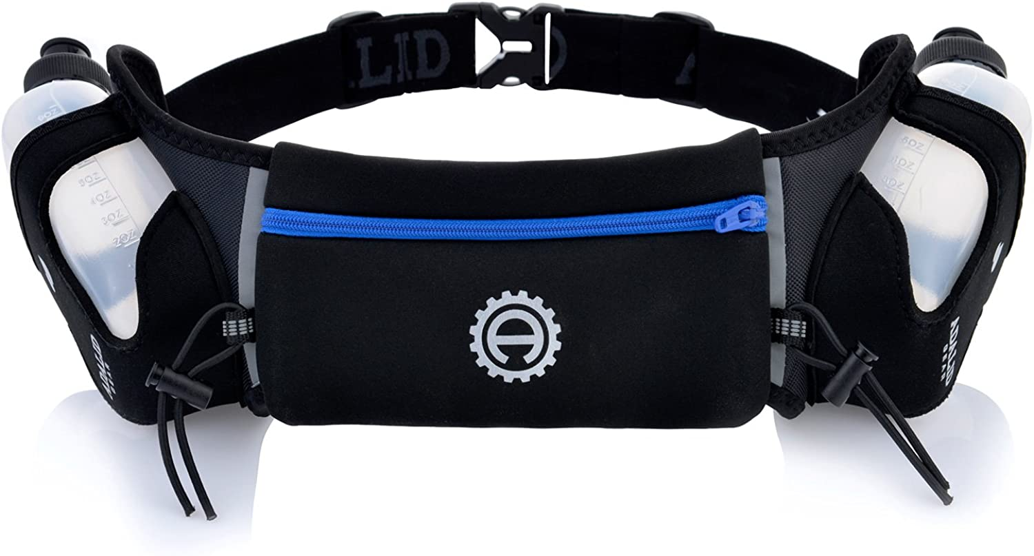Hydration Belt for Running  Includes Accessories and Two 10Ounce BPAFree and LeakProof Water Bottles   A BounceFree & Lightweight Fuel Gear
