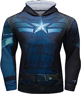 Superhero Hooded Shirt Captain America Pullover Hoodie