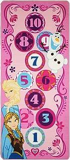Disney Frozen Hopscotch Toys Rug Anna, Olaf, Elsa Bedding Play Mat Game Rugs w/ 2 Snow Flakes Toy, 26