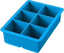 """Tovolo 81-10222 Inch Large King Craft Mold Freezer Tray of 2"""" Cubes for Whiskey, Bourbon, Spirits & Liquor Drinks, BPA-Fre..."""