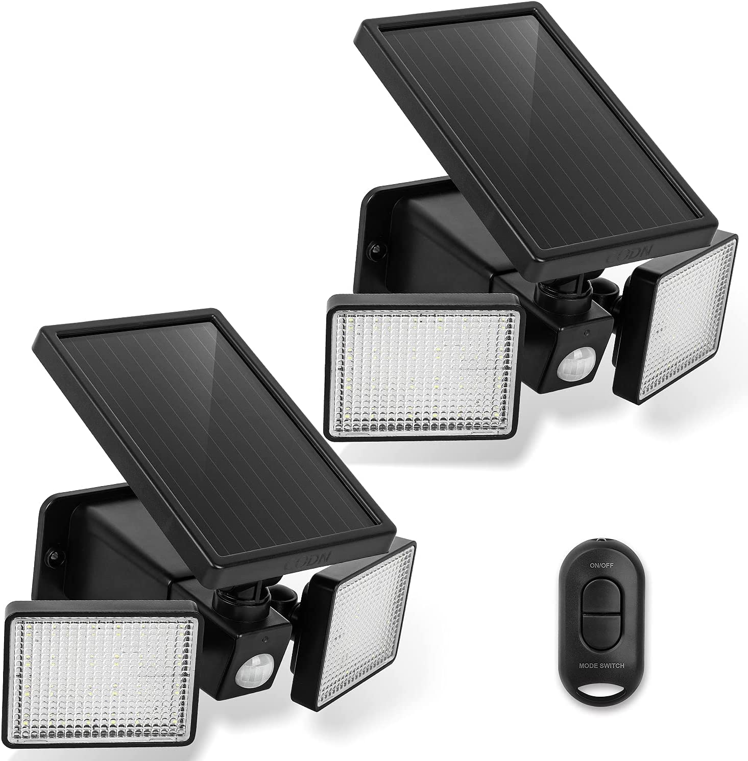 Codn 100-LED 2-Pack Wireless Outdoor Solar Motion Lights  $24.99 Coupon