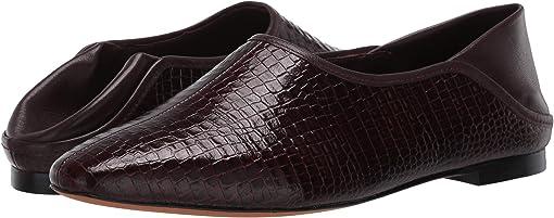 Dahlia Wine Croc Leather