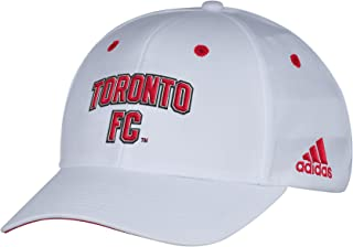 adidas MLS Toronto Fc Men's White Wordmark Structured Adjustable Hat, One Size, White