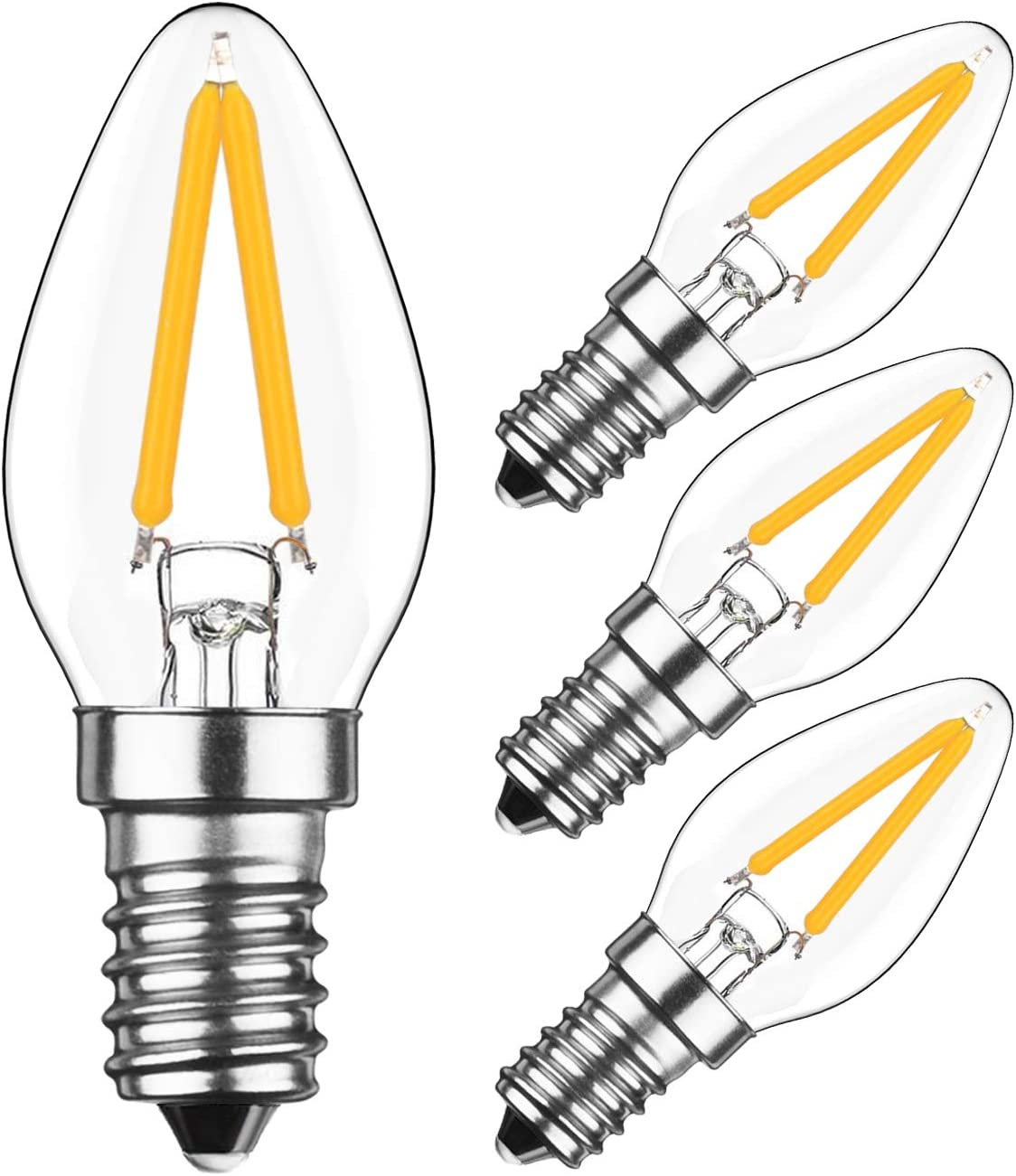 specialty shop HzSane 2W LED Filament C7 Night White Light Max 56% OFF Bulb Warm 2700K 200