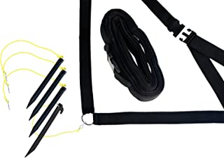 Park & Sun Sports Adjustable Outdoor Volleyball Boundary Webbing with Ground Stakes