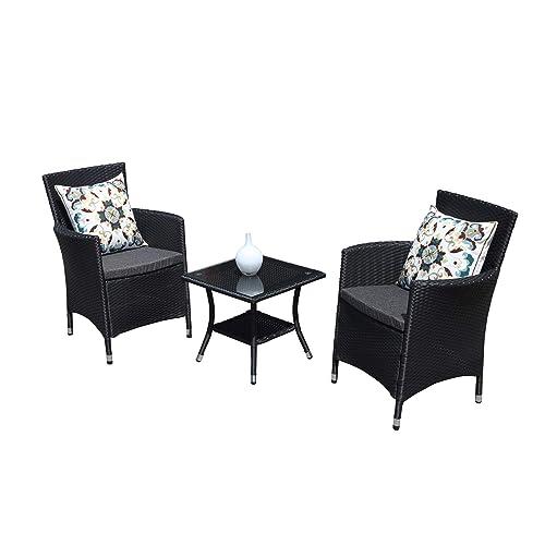 Awesome Black Wicker Chairs Amazon Com Inzonedesignstudio Interior Chair Design Inzonedesignstudiocom