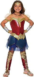 Rubie's Costume Girls Justice League Premium Wonder Costume, Medium, Multicolor