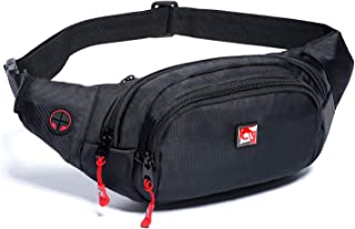Waist Pack Bag Fanny Pack for Men and Women Water Resistant Hip Bum Bag with Large Capacity Adjustable Strap for Outdoors Workout Traveling Casual Running Hiking Cycling Dog Walking Fishing