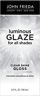 John Frieda Clear Shine Gloss, 6.5 Ounce Shine Enhancing Glaze, Designed to Fill Damaged Areas for Smooth, Glossy Hair