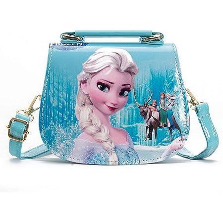 Fancyland Elsa Mädchen Taschen Frozen 2 Eiskönigin Kinder Umhängetasche mit Anna und ELSA 2 Spielzeug Handtasche