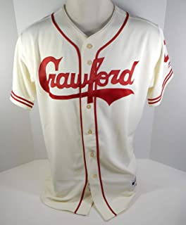 2018 Pittsburgh Pirates Crawfords Game Issued Cream Jersey PITT32471 - Game Used MLB Jerseys