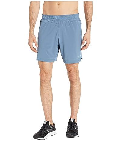 New Balance Q Speed Run Crew Shorts (Chambray) Men
