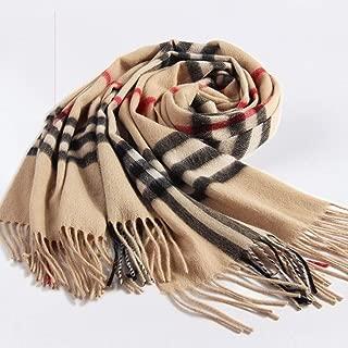 YANGBM Scarf Wool Warm Fashion Soft Skin-Friendly Cashmere Thickening Winter Wild Cloak Shawl Wrapped Body Dual-use (Color : E)